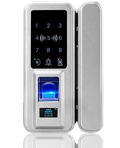 ROMIX Fingerprint, Touch Screen and IC Cards Smart Keyless Door Lock for Glass Single/Double Doors