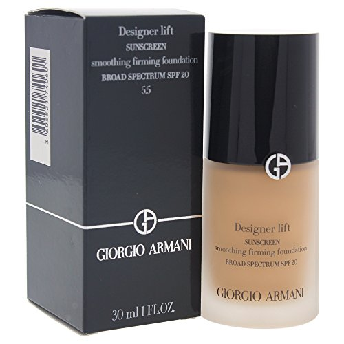 Giorgio Armani Designer Lift Smoothing Firming Foundation SPF 20, 5.5 Medium Warm