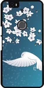 Funda para Google Nexus 6P (Huawei) - Flores De Cerezo Pájaro Animal by Nina Baydur