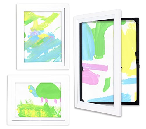 dynamicFRAMES® Li'l Davinci Kid's Art Frames - 12x18, 9x12, and 8.5x11 collection (white finish)