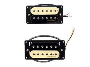 wilkinson zebra style humbucker guitar pickup bridge neck pair musical instruments. Black Bedroom Furniture Sets. Home Design Ideas