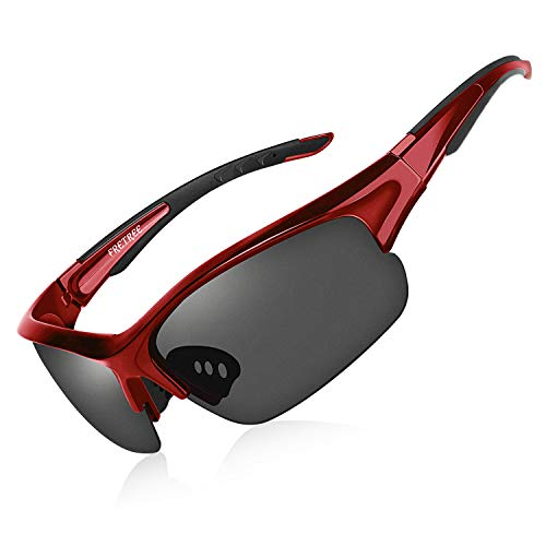 Polarized Sunglasses for Men Women - UV Protection TR90 Unbreakable Sports Sunglasses for Fishing Driving Cycling