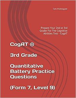 Cogat 3rd Grade Quantitative Battery Practice Questions Form 7