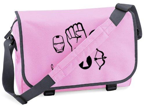 Ramgfx Hombre Bolso Multicolor Hombro Pink Al grey Para aOawqr1