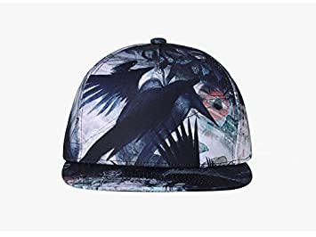 Yaojiaju 3D Printing Baseball Cap Trend Neutral Men and women Street Dance  Hip Hop Cap Graffiti f1442de49d75