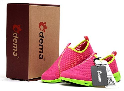 Rouge D'eau Odema Hommes Chaussures Respirant Marche Maille Sur Femmes Sneakers Rose Slip De 0g7Cq0