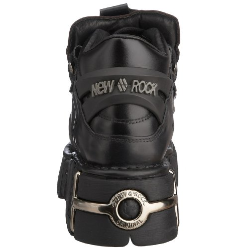 con New zeppa Rock106 S1 Stivali Uomo Nero Nero wqqAZa4