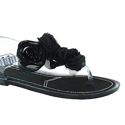 Sandalette ON Black Zehensteg black SPOT ROSES CHINESE nSExcvW