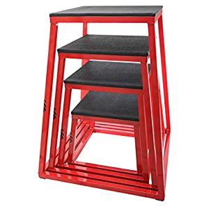 Well-Being-Matters 41c5OXtIlDL._SS300_ JFIT Plyometric Boxes - Single Height, Box Set and Adjustable Box Options - Plyometric Platform and Jumping Agility Box…