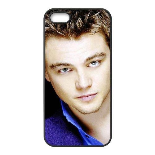 Leonardo Dicaprio 002 coque iPhone 5 5S cellulaire cas coque de téléphone cas téléphone cellulaire noir couvercle EOKXLLNCD25506