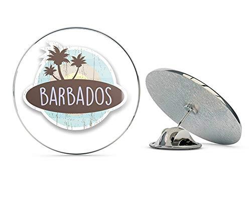 Barbados Caribbean Round Metal 0.75