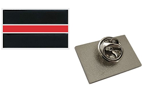 Thin Red Line Lapel Pin - Show Support For Firefighters & Fire Departments - Metal Clutch Red Line Pin -