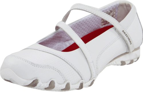 Skechers for Work Women's Bikers - Hobbie Mary Jane (White Nursing Shoes Jane Mary)