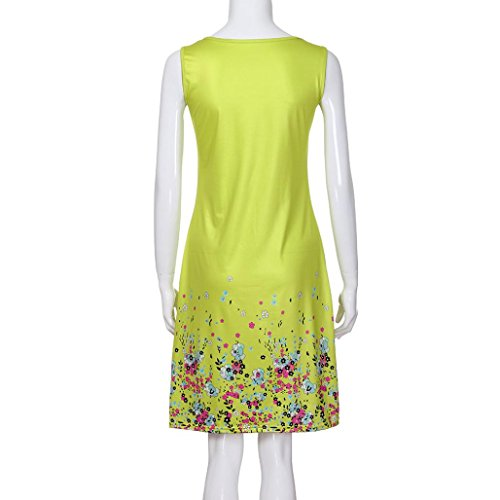 JYC Falda Casual Largo Larga Noche Mujer De Verano Verano Mangas Fiesta Vestido La Playa Elegante Fiesta Camiseta Corto Amarillo Encaje Vestido Vestido Boda Vestir Sin Mujer r5vrwq