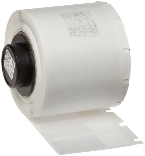 """Price comparison product image Brady PTL-29-427 TLS 2200 And TLS PC Link 1.5"""" Height, 0.5"""" Width, B-427 Self-Laminating Vinyl, White And Translucent Color Label (500 Per Roll)"""
