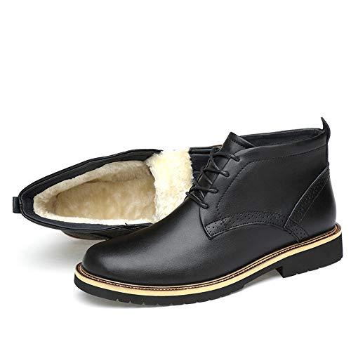 Optional Optional Optional shoes 43 Black Black Black Black Leggeri Rilievo Dimensione Comodi Lucidi Uomo Stivaletti Moda Black Warm e alla in Warm EU da Xiazhi Velvet Warm Color Stivali Z4SqdqU