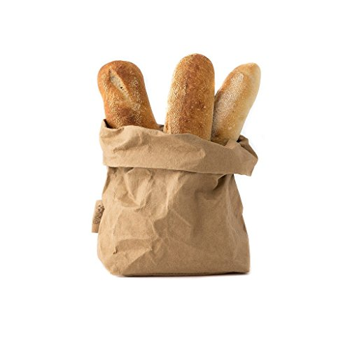 (Kraft Paper Bags Washable Metallic Paper Bag Can be Rolled, Scrunched, Folded .Reusable Brown Paper Bag (YELLOW, 2020))