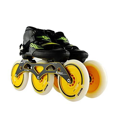 発明する発揮する製造ailj スピードスケートシューズ3 * 125MM調整可能なインラインスケート、ストレートスケートシューズ(5色) (色 : Orange, サイズ さいず : EU 38/US 6/UK 5/JP 24cm)