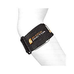 Shock Doctor Tennis Elbow Support (Black, One Size Fits All)