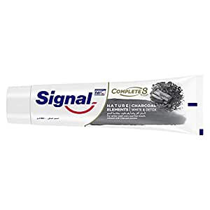 Signal Nature Elements Charcoal Toothpaste - White & Detox, 100ml, Piece of 1