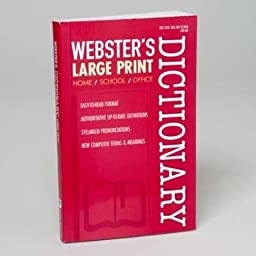 Webster\'s Large Print Dictionary 2014 - 2 Pack!