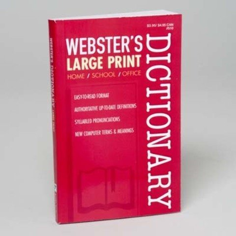 Websters Large Print Dictionary 2014   2 Pack