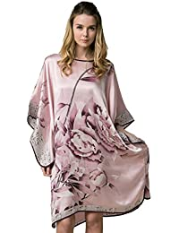 Grace Silk 100% Silk Nightgown, Batwing Sleeved