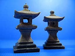 2pcs Japanese garden Decoration 4.8x 4.8x10cm Aquarium Ornament Decor fish tank