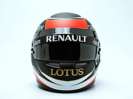 Mini Helmet - Miniatura de Coche Cascos K. Raikkonen Lotus F1 Team 2013 (Escala 1/2, 5055421528881, Color Blanco/Rojo/Negro: Amazon.es: Juguetes y juegos