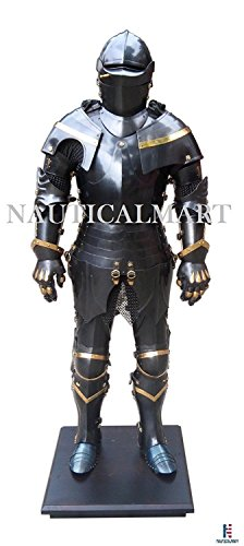 NAUTICALMART Medieval Knight Full Suit of Armor 15th Century Wearable Body Armour - Halloween