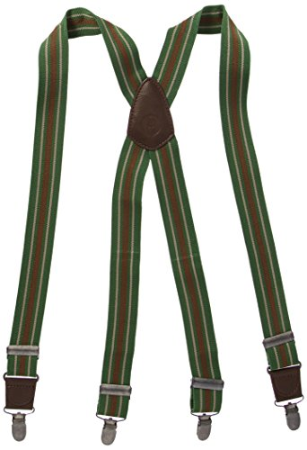 Chef Works Men's Berkeley Striped Bib Apron Suspenders, Green/Multi, OS by Chef Works