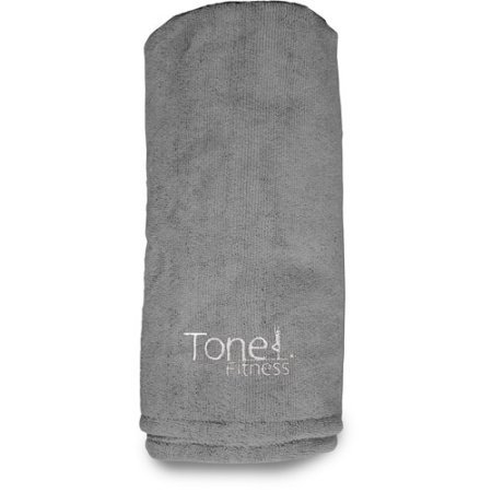 Tone Fitnessテリー布ヨガフィットネス下マット滑り止めソフトテリー布素材で作ら – グレー B01I0DNBXG