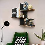 Miratino Corner Wall Shelves Rustic Wood Corner