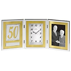 Bulova B1233 Medallion Picture Frame Collection Clock