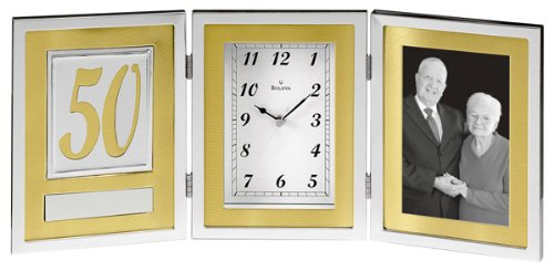 Bulova B1233 Medallion Picture Frame Collection Clock ()