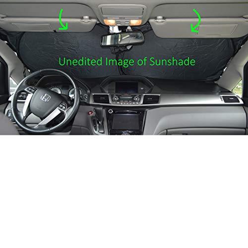 Windshield Sun Shade 240T-Sizechart Images 2-4 Fabric Selection-Chart for Car SUV Trucks Minivans Sunshades Keeps Your Vehicle Cool Heat Shield - Honda Odyssey Sunshade