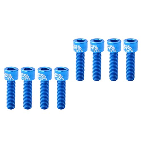SM SunniMix 8pcs Rust-Resistance Bike Stem Screw Bolt Replacement Bicycle Part Component Fixing Accessories from SM SunniMix