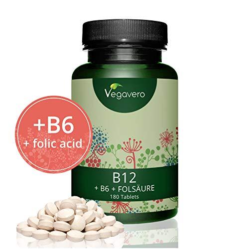 Vitamin B12 Methylcobalamin by Vegavero | 180 Tablets | 1000 mcg per...