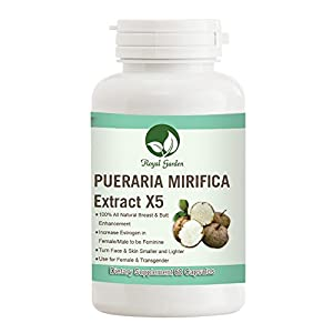 BIG Fast Enhancement Enlargement Breast BooB with Extract Pure Pueraria Mirifica from Organic Natural Supplement Increase Estrogen Hormone 60 Capsule Pill