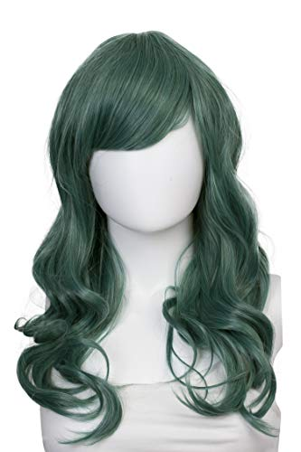 Mix Emerald (Epic Cosplay Hestia Cosplay Curly Wig 22 Inches (Emerald Green Mix))
