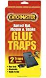 Catchmaster 402 Baited Rat, Mouse and Snake Glue Traps Professional Strength, 2-Pack