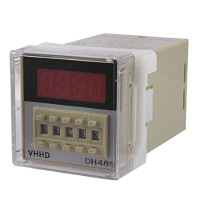 uxcell DH48S-2Z LCD Display Digital Time Delay Relay 0.01S-99H99M AC 220V