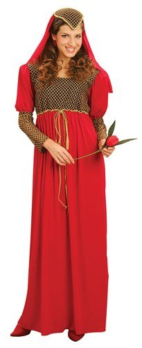 Juliet Medieval Maid Marion Ladies Fancy Dress Women's Costume Tudor (Adult Tudor Costume)