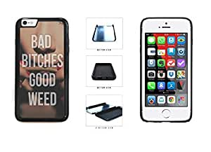 Bad Bitches Good Weed Dual Layer Phone Case Back Cover Apple iphone 5 5s ( es screen) includes fashion case Cloth and Warranty Label
