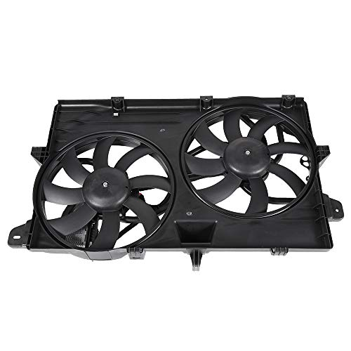 SCITOO Dual Radiator or AC A/C Condenser Cooling Fan Compatible with 2007-2015 Ford Edge Lincoln MKX 3.7L 3.5L