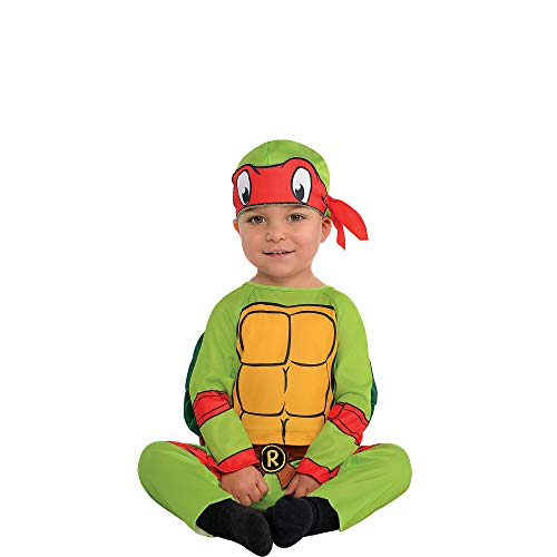 Amscan Teenage Mutant Ninja Turtles Raphael Halloween Costume for Infants, 6-12 Months, with Included Accessories]()