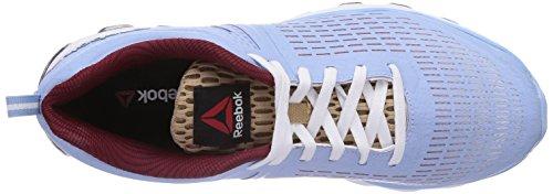 Reebok Zjet Run- Zapatillas de running Mujer Azul (Denim Glow/Walnut/Rustic Wine/White)
