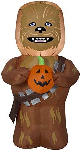 Gemmy 3.5' Star Wars Airblown Chewbecca w/Pumpkin Halloween -
