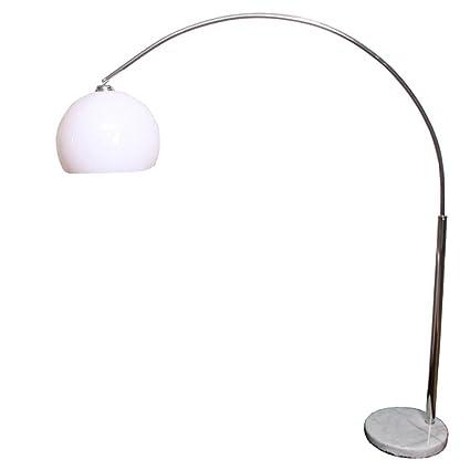 Design lampada ad arco Lounge Deal II regolabile 175-206cm ~ bianco ...