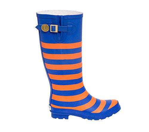 Lillybee Royal and U a Rainboots Orange Blue Initial xwnwZ
